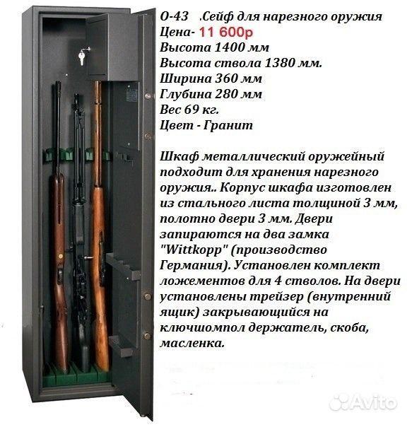 Оружейный сейф с фото