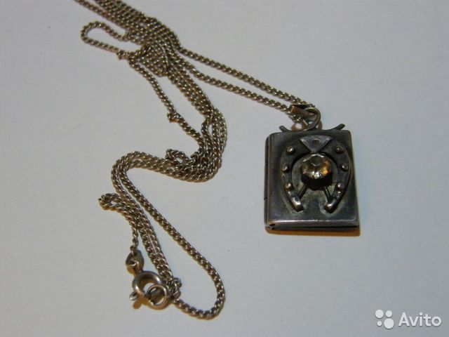 медальон с фотографией: