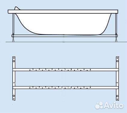 Каркас для ванны 170х70 своими руками