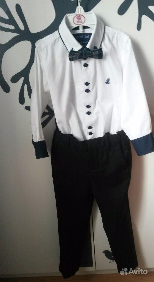 Брюки и рубашка с коротким рукавом мужская - 0705a