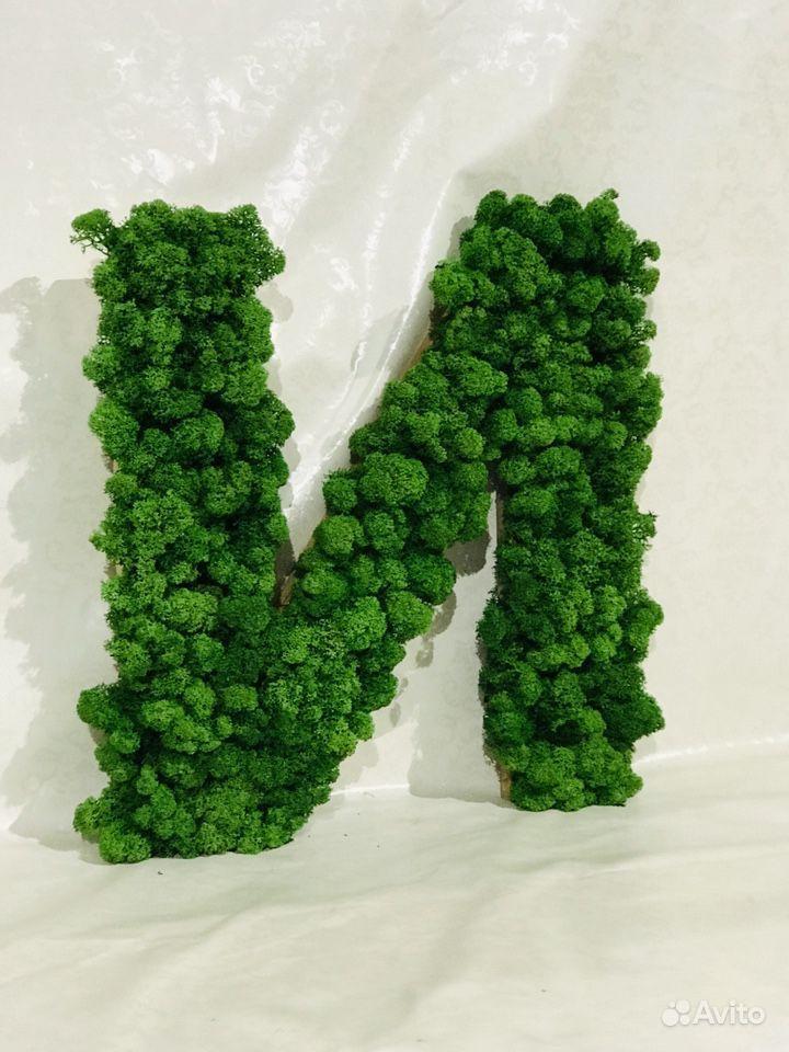 Буква из стабилизированного мха купить на Зозу.ру - фотография № 2