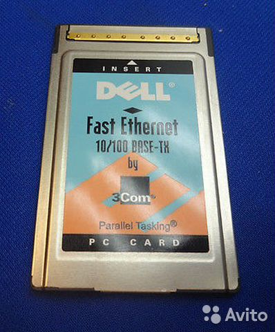 Dell fast ethernet 10/100 base-TX BY 3COM PC card— фотография №1