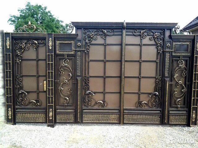 металлические ворота двери и цены