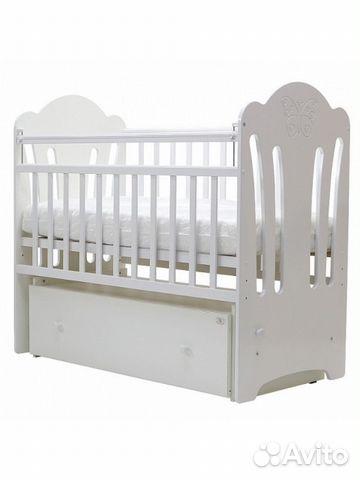 детская деревянная кроватка ангелина маятникящик