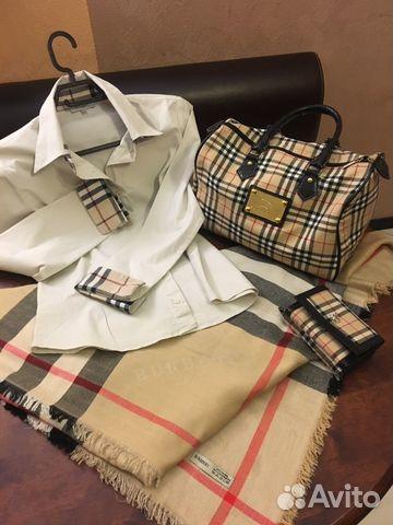 8c1eda4b79ad Burberry лот  рубашка, палантин, сумка и портмоне купить в Москве на ...