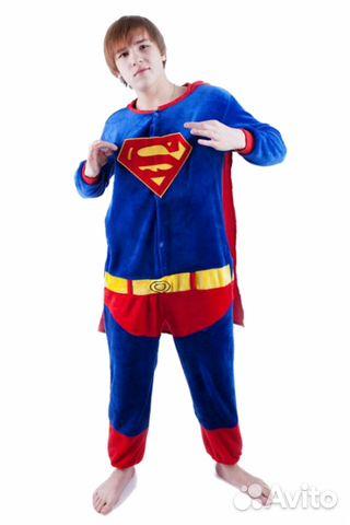 Костюм кигуруми Supermen размер S новый  07f217dfe10ce