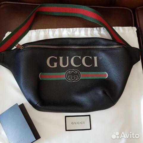 e554bc1df80e Поясная сумка Gucci из кожи 2018 черная купить в Москве на Avito ...