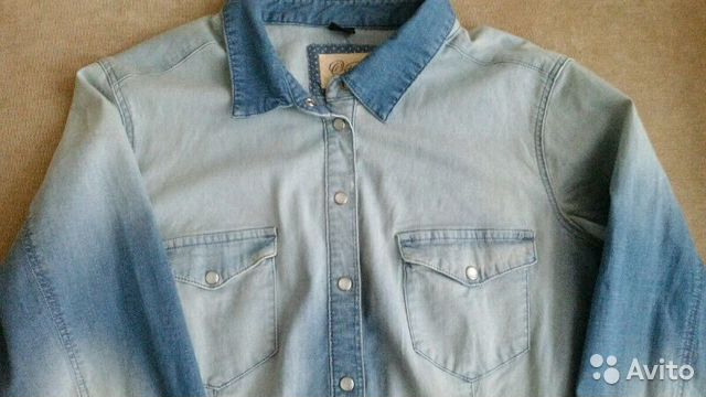 f8fbf3d7b26 Джинсовая рубашка ostin новая