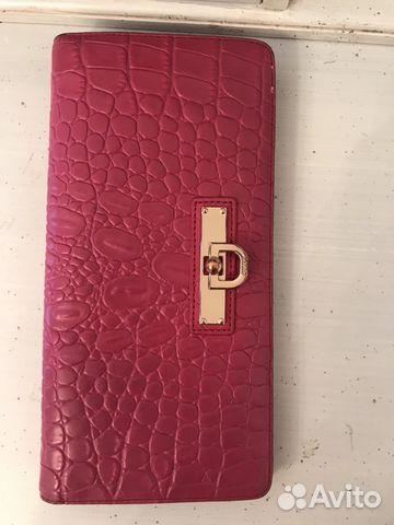 Кожаный кошелёк dkny. Оригинал  70321cdb39931