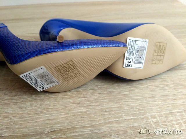 Новые синие туфли