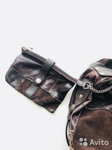 Läder väska lapptäcke