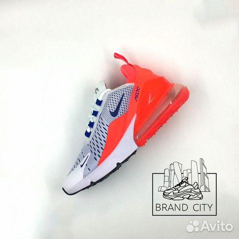 Nike Air Max 270 white orange blue купить в Москве на Avito ... 497c38e7a6e