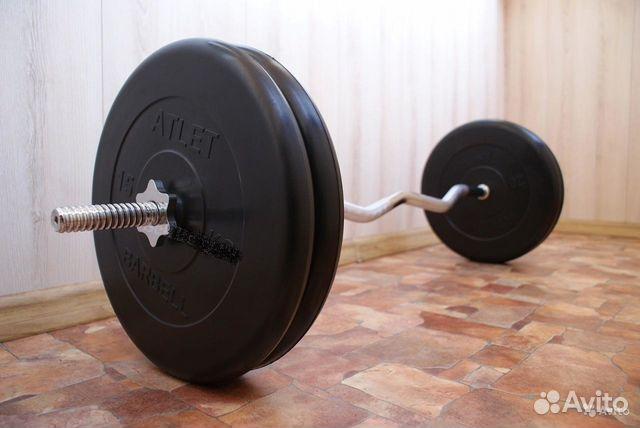 0d5a22a2fd00 Штанга весом 75 кг (W-гриф + блины, 2x20  2x15 кг) купить в Санкт ...