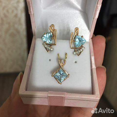Золото585 с бриллиантами и топазами