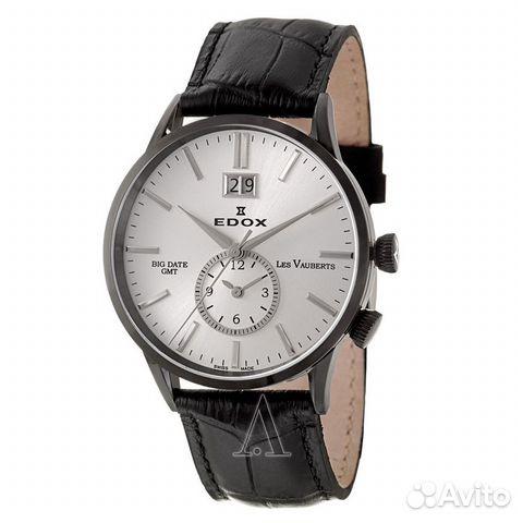 2035c51a Новые Мужские часы edox Les Vauberts Big Date GMT купить в Москве на ...