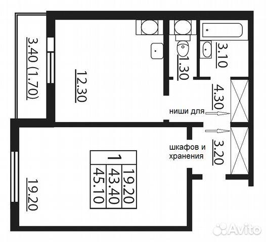 Продается однокомнатная квартира за 4 990 000 рублей. г Санкт-Петербург, ул Бестужевская, д 7 к 3 стр 1.