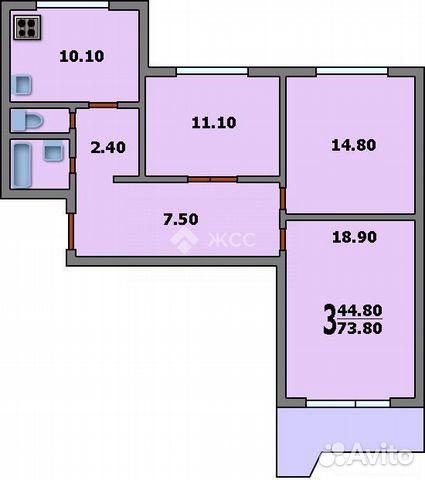 Продается трехкомнатная квартира за 15 200 000 рублей. г Москва, ул Твардовского, д 9 к 1.