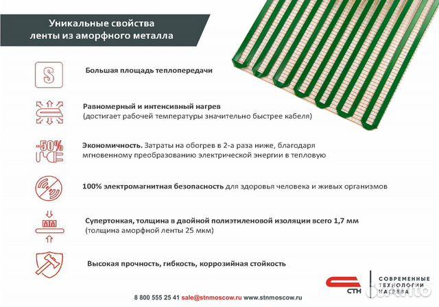Теплый пол стн City Heat 150 Вт/кв.м, 2.5х0.5 м  89024147867 купить 5