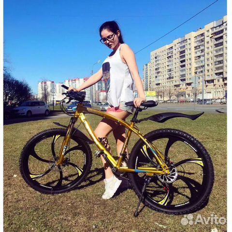 89527559801 Горный велосипед на литых дисках