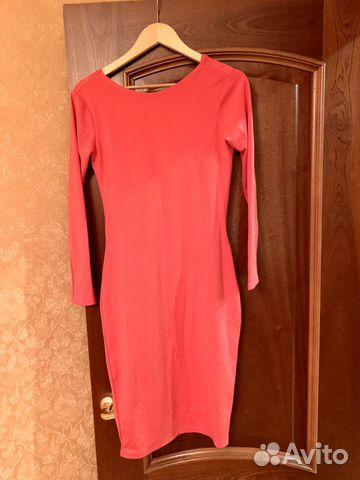 Платье красное с открытой спиной
