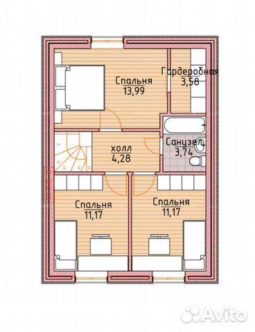 Коттедж 100 м² на участке 8 сот. 88002226041 купить 3