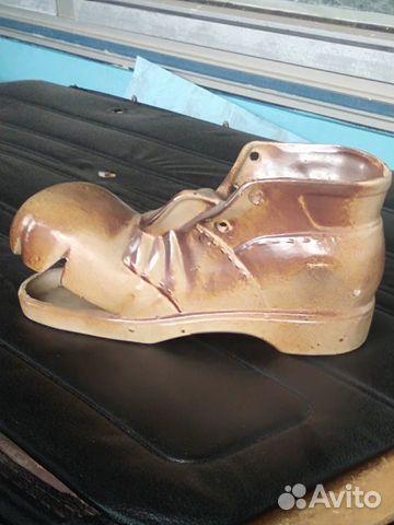 Башмак ботинок рваный керамика