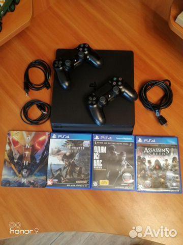Sony PS4 slim, 2 геймпада, 4 игры  89644720337 купить 2