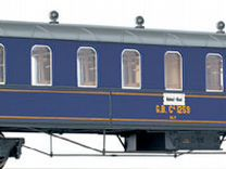 Вагон пассажирский 4-осный. масштаб 1/87 «но»