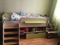 Детская кровать и пенал в комплекте или раздельно