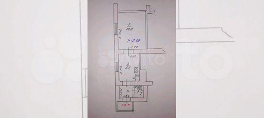 1-к квартира, 19 м², 1/2 эт.
