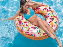 Надувной Круг Пончик с глазурью 114 см