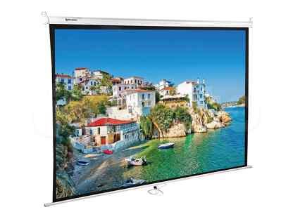Экран проекционный Brauberg wall, матовый, настенный, 150х200 см, 4:3 (236728)