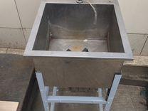Ванна из нержавейки со смесителем