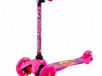 Самокат Barbie 3-х колесный c 3D-эффектом Розовый