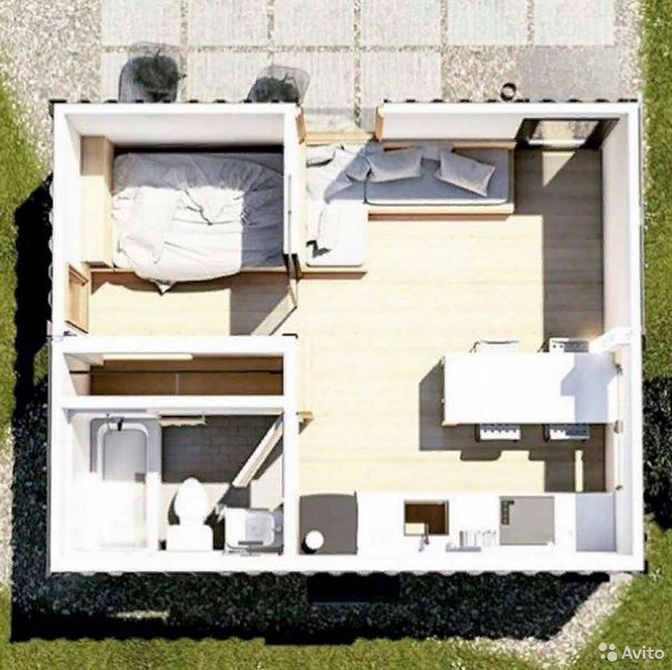 Контейнер дом (5х6м), Офис, Павильон, глемп  89530080396 купить 3