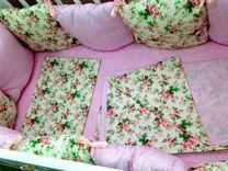 Новый набор в кроватку, бортики + постельное бельё